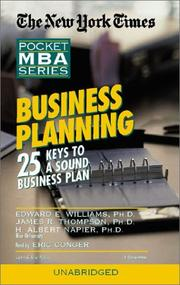 Cover of: Business Planning | Edward E. Williams