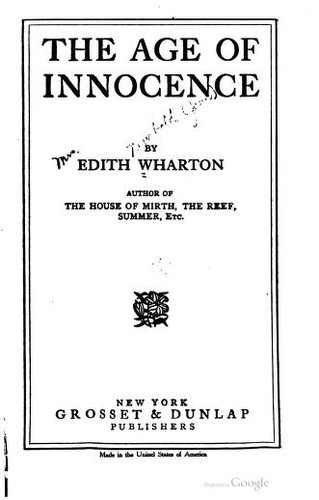 The age of innocence. by Edith Wharton