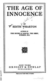 Cover of: The age of innocence. | Edith Wharton