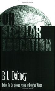 Cover of: On Secular Education