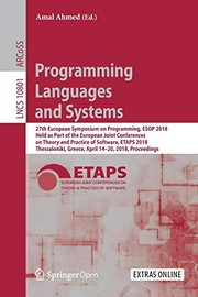 Cover of: Programming Languages and Systems | Amal Ahmed