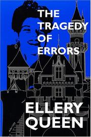 Cover of: The tragedy of errors and others | Ellery Queen
