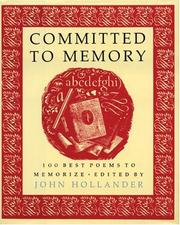 Cover of: Committed to Memory |