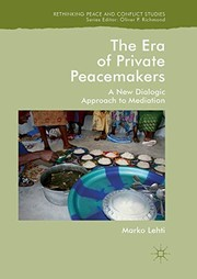 Cover of: The Era of Private Peacemakers