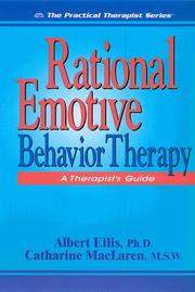 Cover of: Rational emotive behavior therapy | Albert Ellis