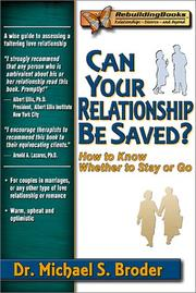 Cover of: Can Your Relationship Be Saved? How to Know Whether to Stay or Go (Rebuilding Books) | Michael S. Broder