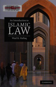 Cover of: An Introduction to Islamic Law | Wael B. Hallaq