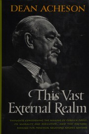 Cover of: This vast external realm