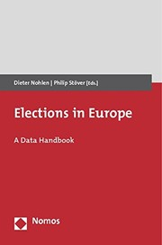 Cover of: Elections in Europe | Dieter Nohlen, Philip Stöver