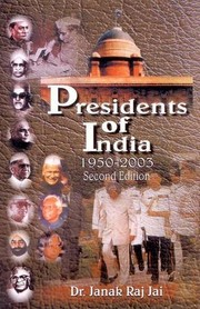 Cover of: Presidents of India | Janak Raj Jai