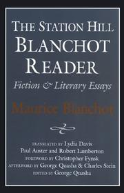 Cover of: The Station Hill Blanchot reader: fiction & literary essays