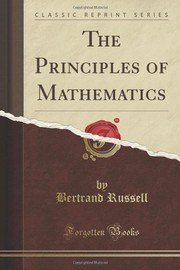 Cover of: The Principles of Mathematics | Bertrand Russell