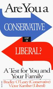 Cover of: Are You a Conservative or a Liberal? | Victor Kamber, Bradley S. O'Leary