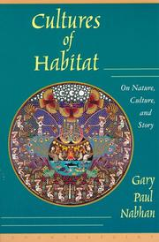 Cover of: Cultures of Habitat