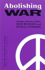 Cover of: Abolishing war