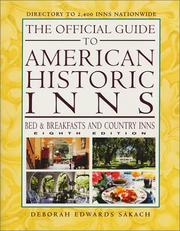 Cover of: The Official Guide to American Historic Inns-8th Edition (Official Guide to American Historic Inns: Bed & Breakfasts & Country Inns)