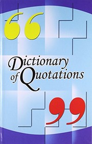 Cover of: Dictionary of Quotations | Sachin Sinhal