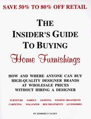 Cover of: The insider's guide to buying home furnishings