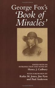Cover of: George Fox's Book of Miracles