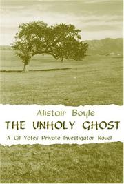 Cover of: The unholy ghost