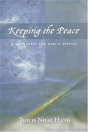 Cover of: Keeping the Peace | Thich Nhat Hanh