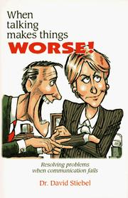 Cover of: When Talking Makes Things Worse!