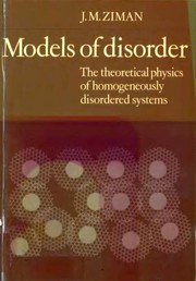 Cover of: Models of disorder