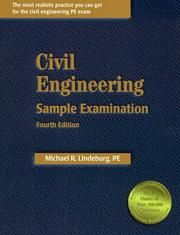 Cover of: Civil engineering sample examination | Michael R. Lindeburg