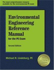 Cover of: Environmental engineering reference manual for the PE exam