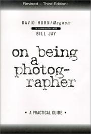Cover of: On being a photographer