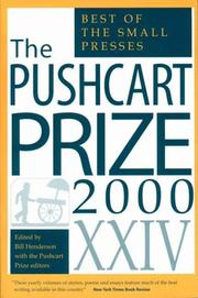 Cover of: The Pushcart Prize XXIV | The Pushcart Prize Editors