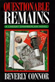 Cover of: Questionable remains | Beverly Connor