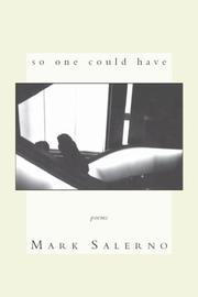 Cover of: So one could have | Mark Salerno