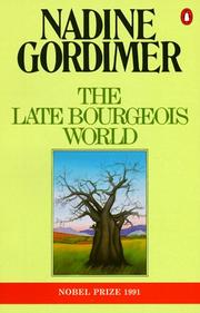 Cover of: The Late Bourgeois World