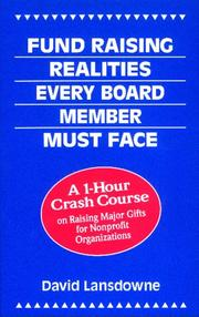 Fund raising realities every board member must face