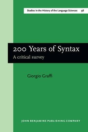 Cover of: 200 years of syntax | Giorgio Graffi