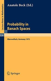 Cover of: Probability in Banach Spaces