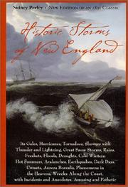 Cover of: Historic storms of New England