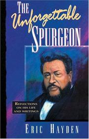 Cover of: The Unforgettable Spurgeon
