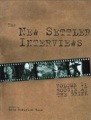 Cover of: The New settler interviews |