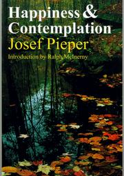 Cover of: Happiness and contemplation | Josef Pieper