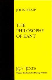 Cover of: The Philosophy of Kant (Key Texts (South Bend, Ind.).) | John Kemp