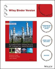 Cover of: Elementary Principles of Chemical Processes, Binder Ready Version