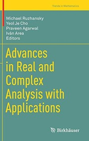 Cover of: Advances in Real and Complex Analysis with Applications