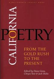 Cover of: California poetry |