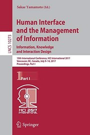 Cover of: Human Interface and the Management of Information | Sakae Yamamoto