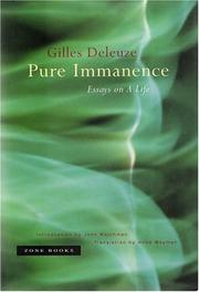Cover of: Pure Immanence