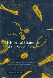 Cover of: Historical grammar of the visual arts