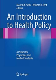 Cover of: An Introduction to Health Policy