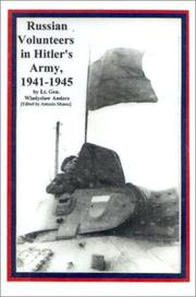 Cover of: Russian volunteers in Hitler's army, 1941-1945